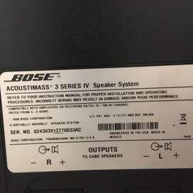 Bose Acoustimass 3 Serie IV