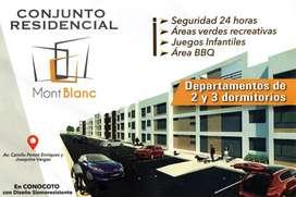 Se vende hermosos departamentos de 2 y 3 dormitorios en Conocoto