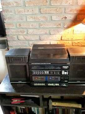 Equipo de radio/cassette/disco
