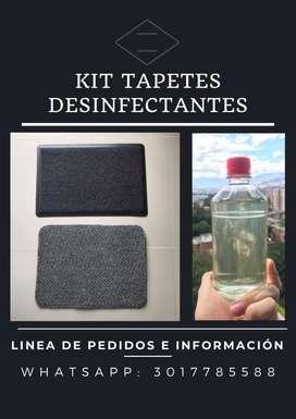 Kit Tapetes Desinfectantes