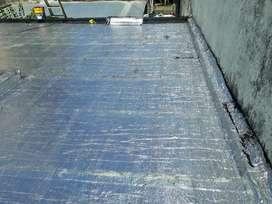 Colocacion de membranas asfáltica y geotextil