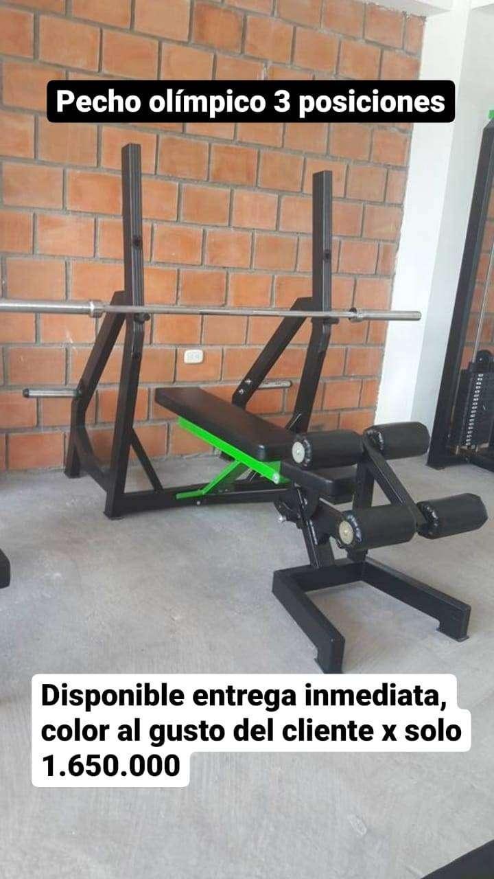 Press olímpico 3 posiciones - Pecho olímpico 3 posiciones máquinas gym alto tráfico