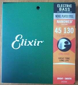 Cuerdas Elixir p/Bajo 5 Cuerdas Light 045/130