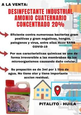 Desinfectante industrial Amonio Cuaternario