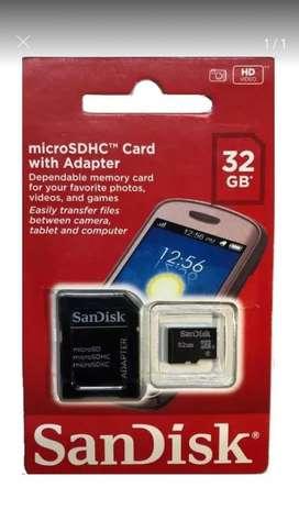 Tarjeta de Memoria Sandisk 32gb