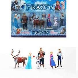 Set de 6 personajes de frozen juguete