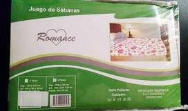 NUEVO - Juego Sábanas 2 Plazas 150x220 Y 30 Cm - RECOLETA