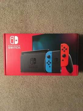 Nintendo Switch 32gb Joycon Rojo Azul Caja Roja