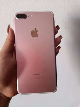Vendo iphone 7 plus de 128gb rosado