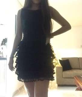 Vestido formal negro talla S