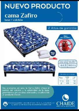 Combo Cama Zafiro + 2 almohadas