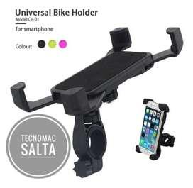 Soporte universal para celulares para moto o bici