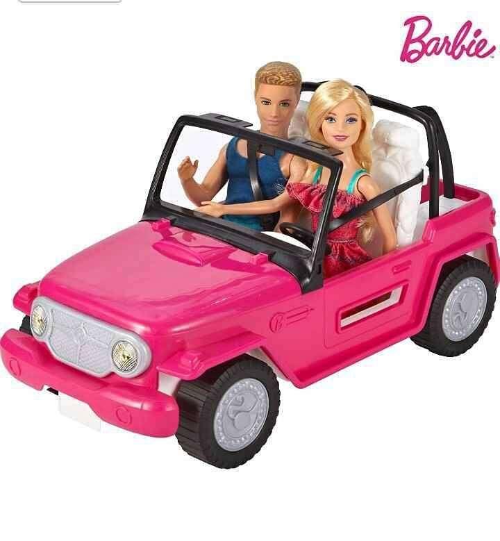 BARBIE JEEP Auto De Playa Con Ken MUÑECOS INCLUIDOS, Mattel 0