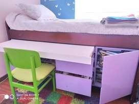 Cama Nido Infantil con Escritorio