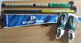 Combo: Palos de Hockey + Funda + Canilleras