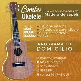 Ukuleles acusticos importados, soprano y concierto