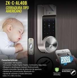 Cerradura Inteligente Zk-c-al40b Para Puerta Principal