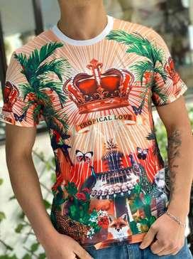 Camisetas Dolce Gabbana Versace Estampados
