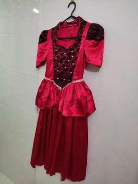 Disfraz de dama antigua niña