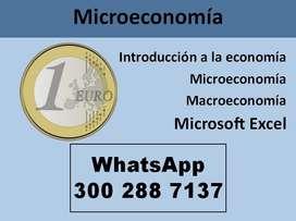 Clases Microeconomía  Introducción a la economía Docente particular Medellín