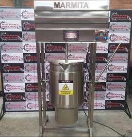 MARMITA DE 100 LTS EN ACERO INOXIDABLE, NUEVA