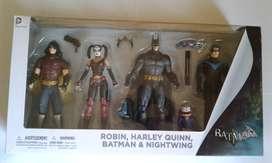 Batman Arkham City 4 Pack set de figuras muñecos DC Comics DC Collectibles Joker Harley Quinn Robin