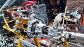 Motor caja transmisión con respectivos cortes para enseñanza de mecánica