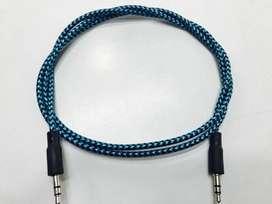 Cable Audio Plug A Plug 3,5 Mallado 90 cm