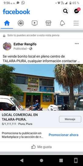 VENTA DE LOCAL COMERCIAL EN TALARA PIURA