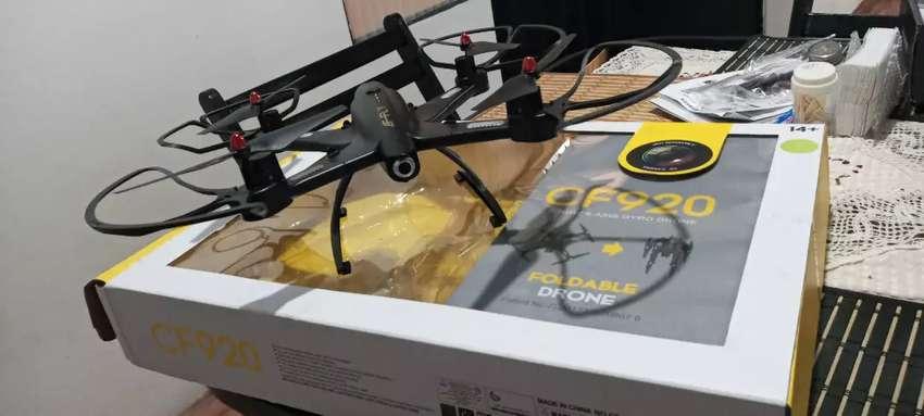 Drone CF-920 Nuevo Plegable negro dale una mirada a la cuarentena diferente.