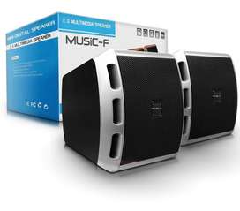 Parlantes Usb D-27 Para Pc Music-f 6w Speaker Audio Música