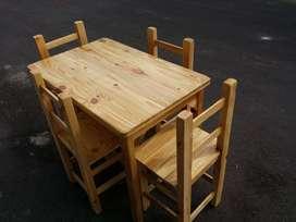 Juegos de sillas y mesa comedor bar restaurante
