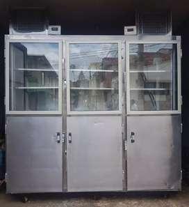 De vende congelador vertical con división totalmente acero  304 antioxido