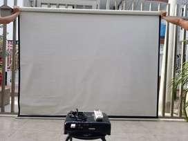 Proyector Video beam Epson y telón