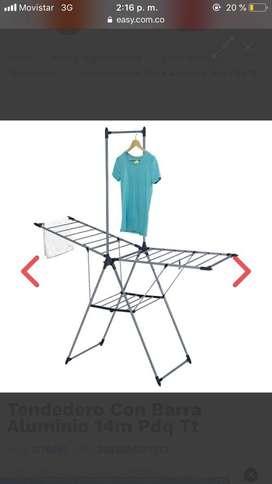 Tendedero de ropa con barra aluminio