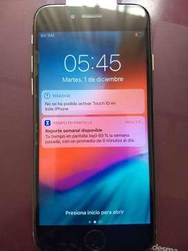 Iphone 6 gris con bateria nueva y pantalla nueva