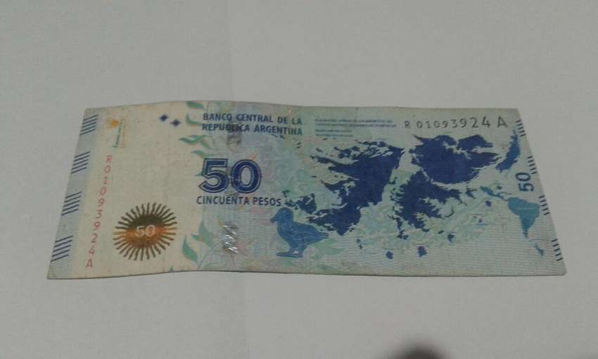 Cincuenta Pesos Malvinas Serie Baja Rep