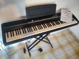 Piano Eléctrico KORG SP170 + soporte + pedal - excelente estado