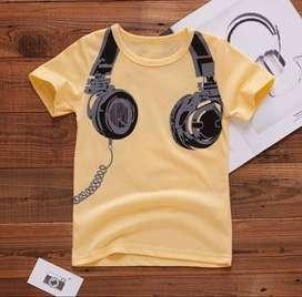 Camiseta Con Estampado Auriculares - Ropa Para Niños