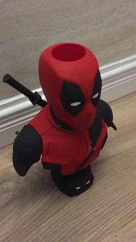 Lapicero Deadpool 3d portalapiz regalo escritorio Heroes