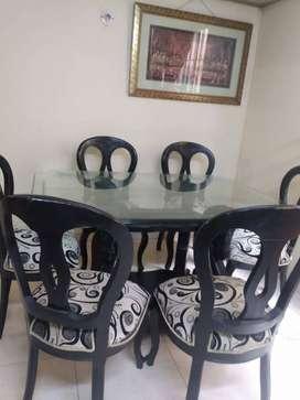 Comedor Vidrio 6 sillas