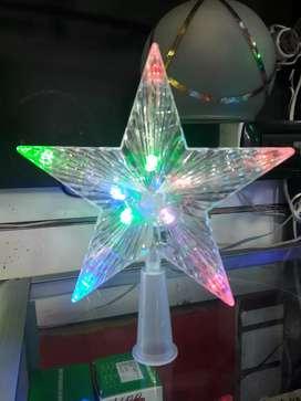 Estrella de arbol  navideña multicolor  led