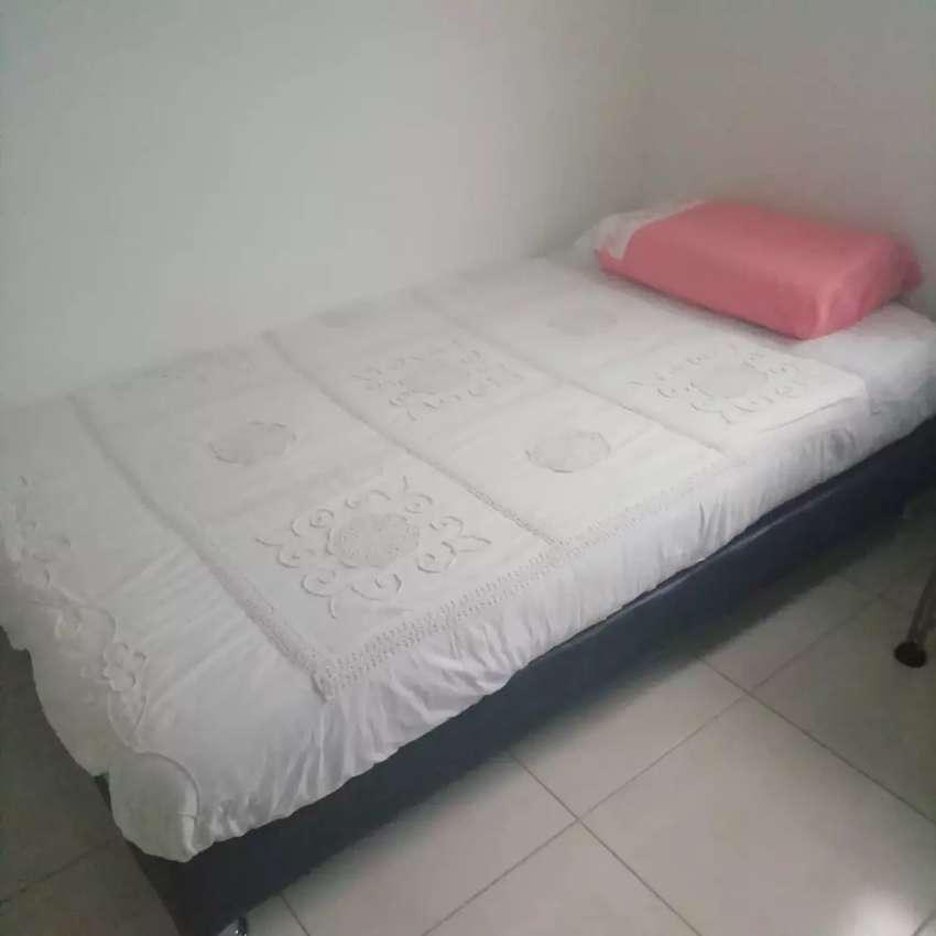 Vendo cama  base  con colchon ortopédico, en buen estadon. Negociable