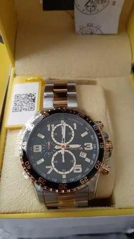 Reloj Invicta nuevo original doble tono dorado plateado. Hombre diesel Fossil Guess Casio Citizen