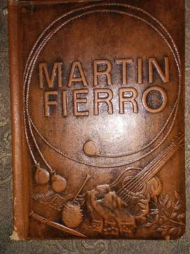 MARTÍN FIERRO   JOSÉ HERNÁNDEZ  TAPA DE CUERO