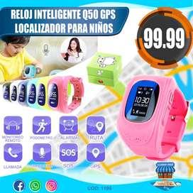 Reloj Inteligente Q50 Con Gps Localizador Para Niños