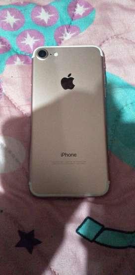 Vendo iPhone 7 de 128GB rosado gold