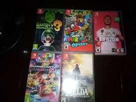 Vendo Películas (juegos) para Nintendo Switch, casi nuevas, poco uso, cada una en su caja original.