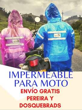 Domicilios gratis impermeable plástico para moto.