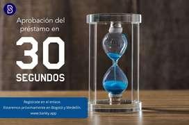 Aprobación del préstamo en 30 Segundos